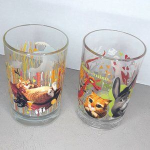 Shrek Drinking Glasses McDonalds Collectible Set 2